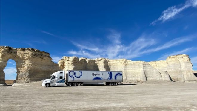 Plus.ai  's autonomous truck ' crosses the US in three days  '...